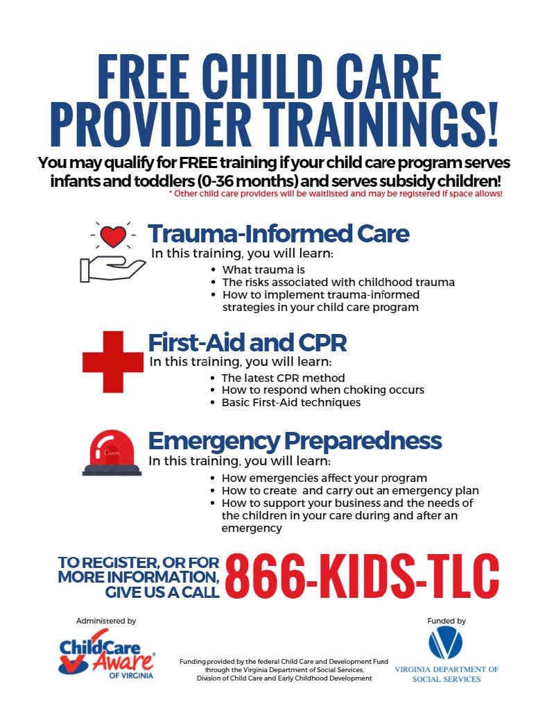 Child Care Aware Of Virginia Free Child Care Provider Trainings